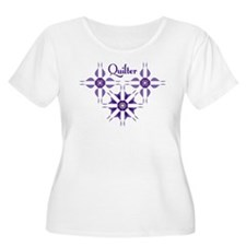 Quilted Violet Plus Size T-Shirt