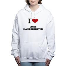 I love Curly Coated Retr Women's Hooded Sweatshirt