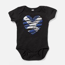 Scotland Painted Heart Baby Bodysuit