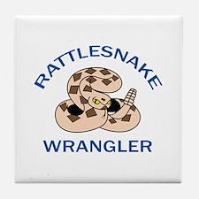 RATTLESNAKE WRANGLER Tile Coaster