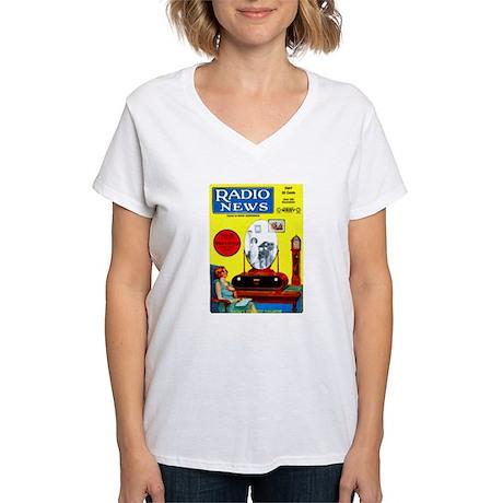 Radio News Women's V-Neck T-Shirt