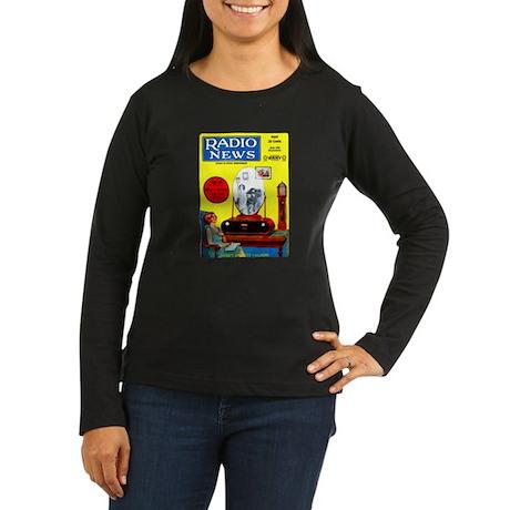 Radio News Women's Long Sleeve Dark T-Shirt