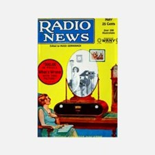 Radio News Rectangle Magnet (10 pack)