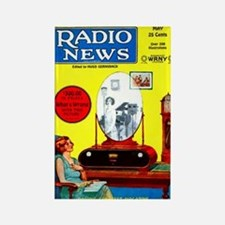 Radio News Rectangle Magnet