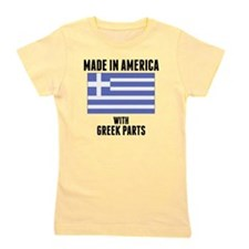 Made In America With Greek Parts Girl's Tee