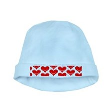 Two Hearts baby hat