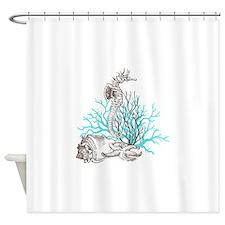 Aqua Under the Sea Shower Curtain