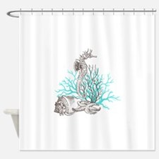 Aqua Under the Sea Shower Curtain