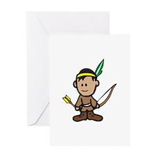 NATIVE AMERICAN BOY Greeting Cards