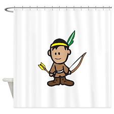 NATIVE AMERICAN BOY Shower Curtain