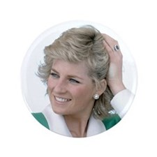 "HRH Princess Diana Australi 3.5"" Button (100 pack)"