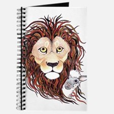 Peek-a-boo lamb with lion Journal
