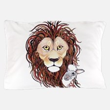 Peek-a-boo lamb with lion Pillow Case