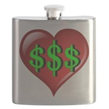 The Great $$$ Heart Flask