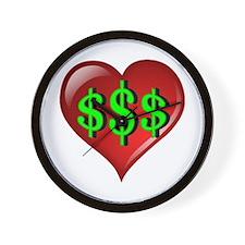 The Great $$$ Heart Wall Clock
