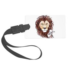 Peek-a-boo lamb with lion Luggage Tag