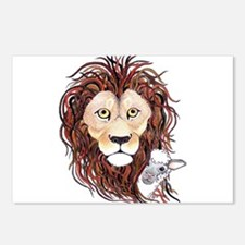 Peek-a-boo lamb with lion Postcards (Package of 8)