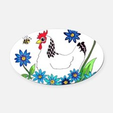 SPRING IS IN THE AIR Oval Car Magnet