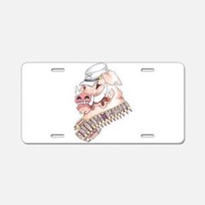 OINK Y'ALL Aluminum License Plate