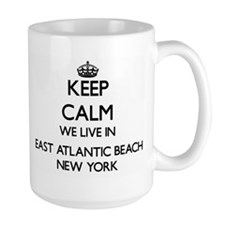 Keep calm we live in East Atlantic Beach New Mugs