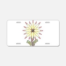 Freedom Flower Aluminum License Plate