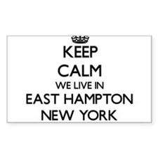 Keep calm we live in East Hampton New York Decal