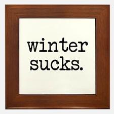 Winter Sucks Framed Tile