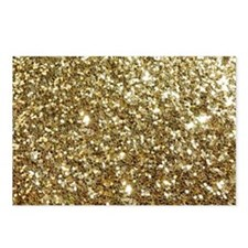 Realistic Gold Sparkle Gl Postcards (Package of 8)
