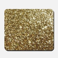 Realistic Gold Sparkle Glitter Mousepad
