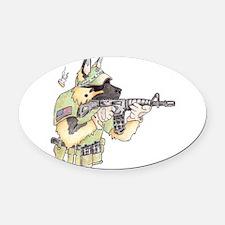 American Sheepdog Oval Car Magnet