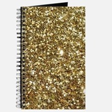 Realistic Gold Sparkle Glitter Journal