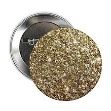 "Realistic Gold Sparkle Glit 2.25"" Button (10 pack)"