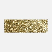 Realistic Gold Sparkle Glitter Car Magnet 10 x 3
