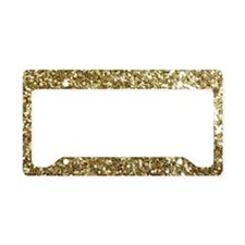 Realistic Gold Sparkle Glitte License Plate Holder