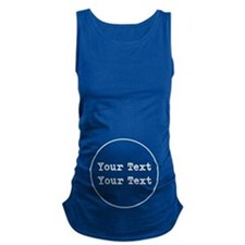 Custom Belly Text Maternity Tank Top