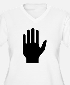Hand Plus Size T-Shirt