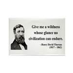 Henry David Thoreau 4 Rectangle Magnet (100 pack)