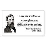 Henry David Thoreau 4 Rectangle Sticker
