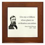 Henry David Thoreau 4 Framed Tile