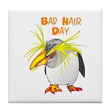 BAD HAIR DAY Tile Coaster