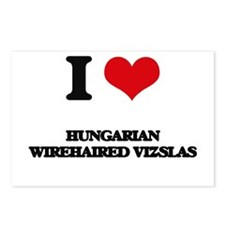 I love Hungarian Wirehair Postcards (Package of 8)