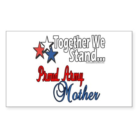 Proud Army Mommy Rectangle Sticker