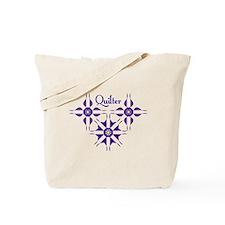 Quilted Violet Tote Bag