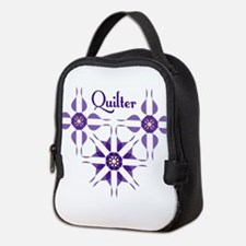 Quilted Violet Neoprene Lunch Bag
