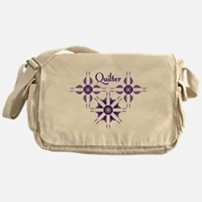 Quilted Violet Messenger Bag