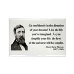 Henry David Thoreau 5 Rectangle Magnet (100 pack)
