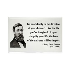 Henry David Thoreau 5 Rectangle Magnet (10 pack)