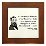 Henry David Thoreau 5 Framed Tile