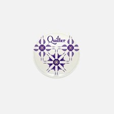 Quilted Violet Mini Button
