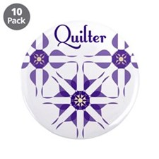 "Quilted Violet 3.5"" Button (10 pack)"